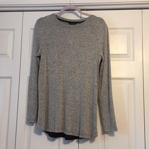 Women's H by Halston gray top, size S